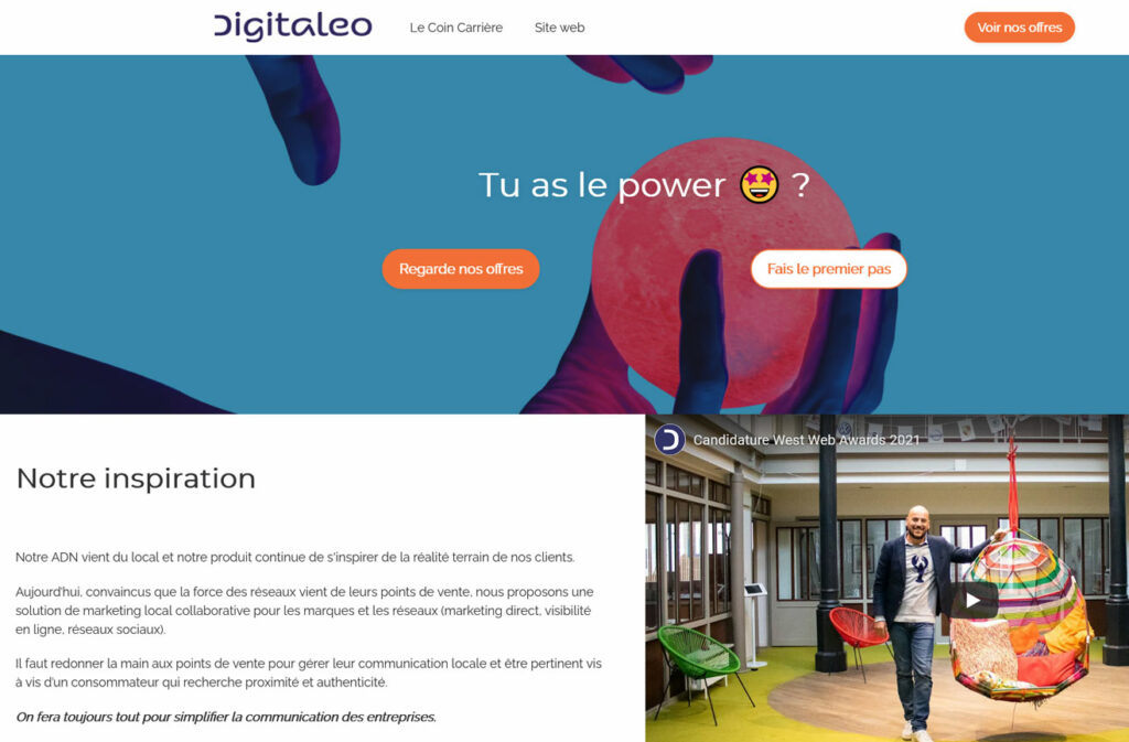 Site carrière Digitaleo
