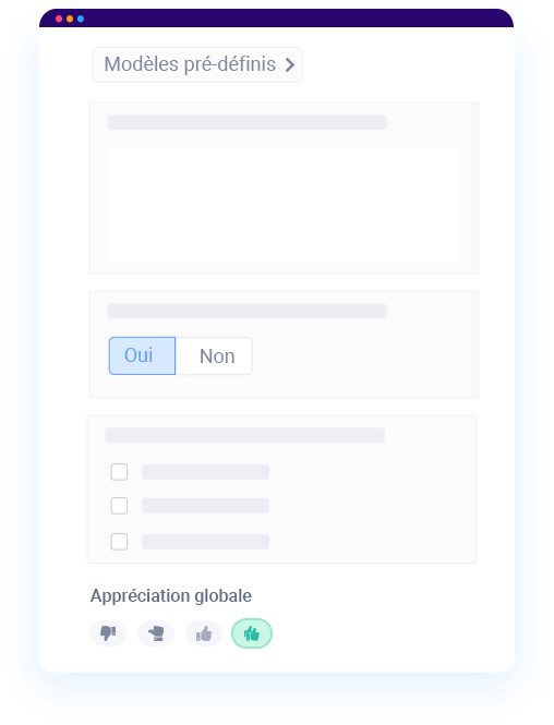 Création de grille d'évaluation de candidat dans un logiciel de recrutement