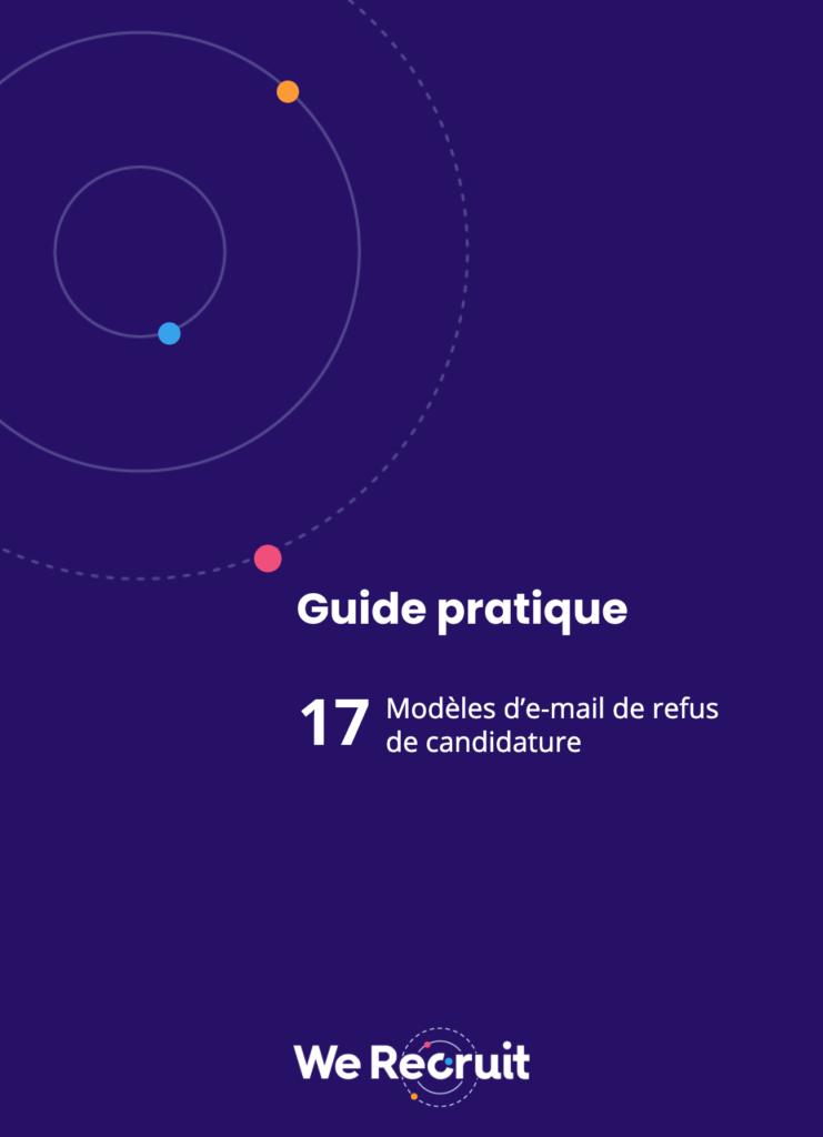 Couverture du guide pratique : modèles de mail refus de candidat