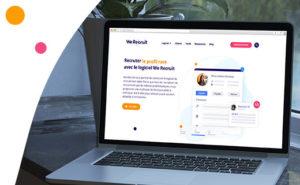 Le nouveau site internet de We Recruit