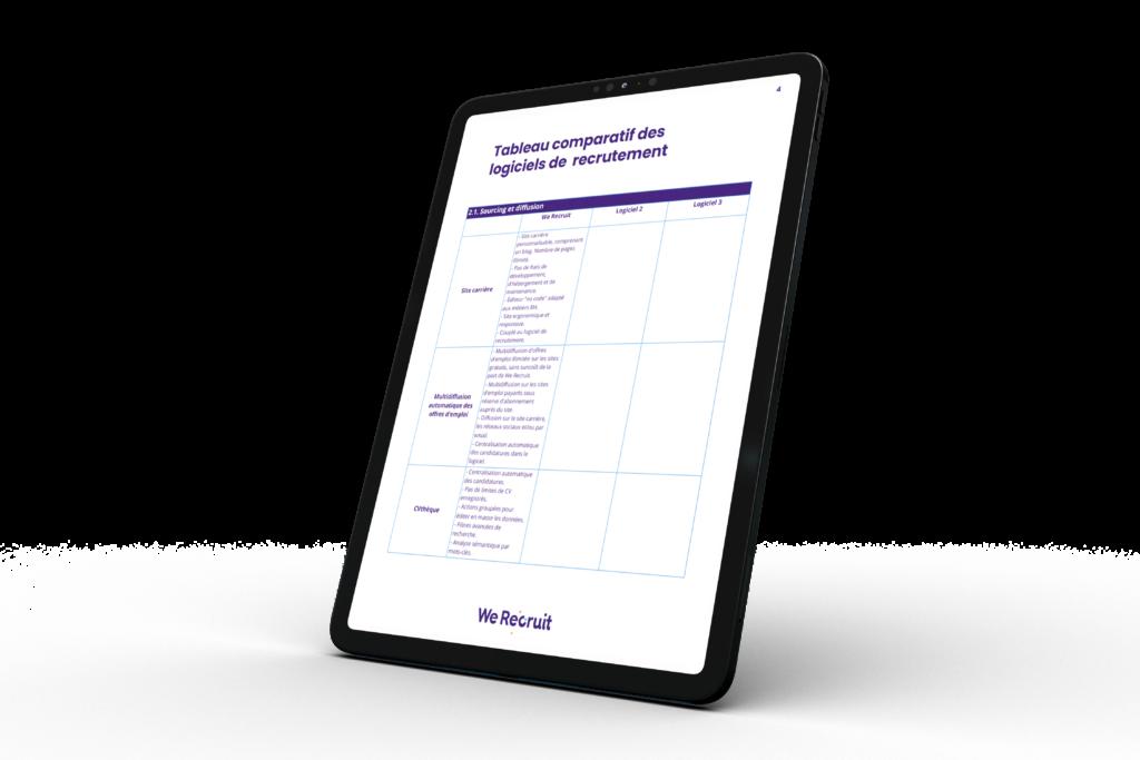 Tableau comparatif des logiciels de recrutement à télécharger