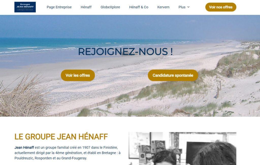 Site carrière Groupe Jean Hénaff
